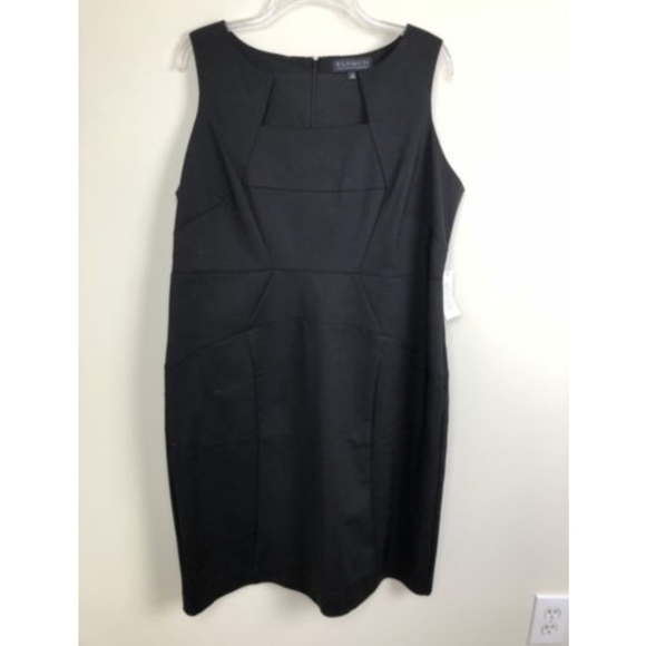 62cf6610362 NWT Eloquii Career Cut out Neck Black Dress 18